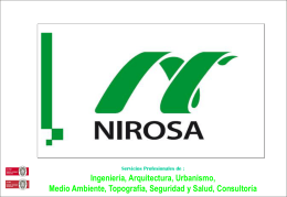 NIROSA INGENIERÍA, S.A.