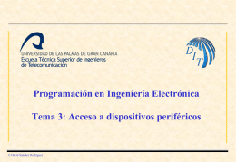 Programación en Ingeniería Electrónica