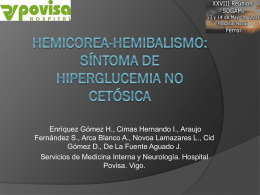HEMICOREA-HEMIBALISMO: SÍNTOMA DE HIPERGLUCEMIA NO