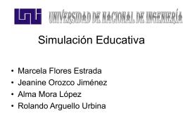 Aplicaciones de la Simulación Educativa