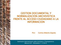Los archivos y el acceso a la información