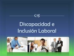 Discapacidad e inclusión laboral
