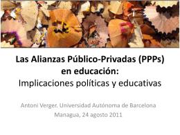 Las Alianzas Público-Privadas en educación: