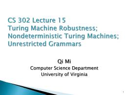 Turing Machine Robustness