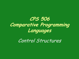 CSP 506 Comparative Programming Languages