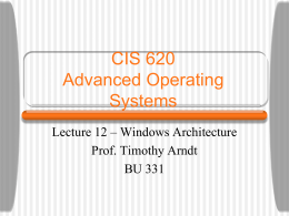 Windows NT 3.51 Architecture