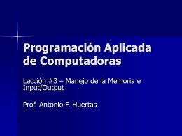 Programación Aplicada de Computadoras