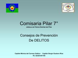 Comisaria Pilar 7° Jefatura de Policía Distrital