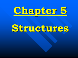 Chapter Five Structures