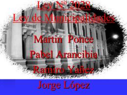 Ley Nº 2028 Ley de Municipalidades