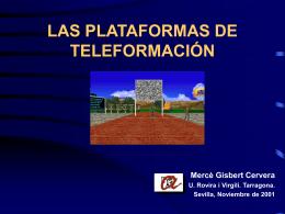 LAS PLATAFORMAS DE TELEFORMACIÓN