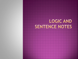 Logic notes