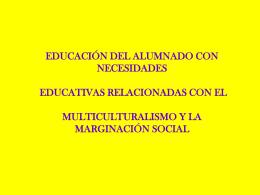EDUCACIÓN DEL ALUMNADO CON NECESIDADES EDUCATIVAS