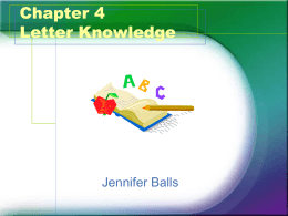 Chapter 4 Letter Knowledge