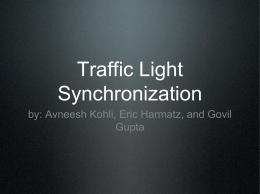 Traffic Light Synchronization