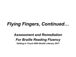 Flying Fingers, Continued…