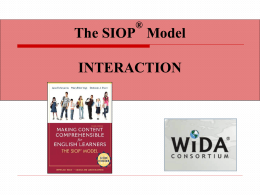 SIOP Component