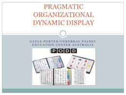 PRAGMATIC ORGANIZATIONAL DYNAMIC DISPLAY