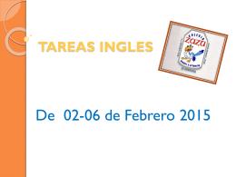 TAREAS INGLES - Colegio Zazu