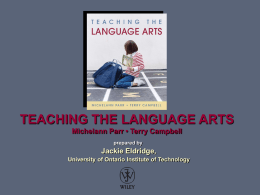 Teaching the Language Arts: Engaging Literacy