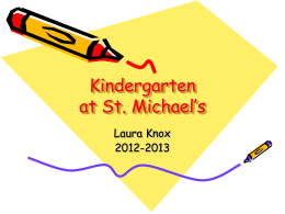 Kindergarten Back-to