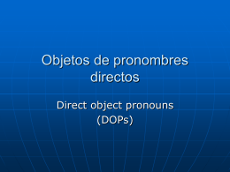Objetos de pronombres directos