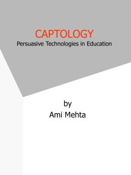 Persuasive Technology Conceptual Design