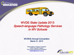 Speech- language pathology services in the