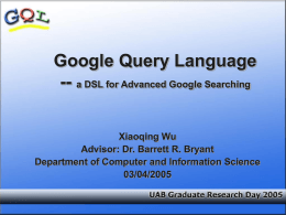 Google Query Language - University of Alabama at