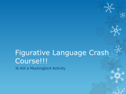 Figurative Language Crash Course!!!