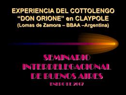 MISIÓN en el ASENTAMIENTO 22 de Enero, Argentina