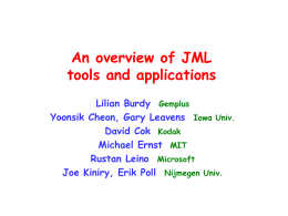 Formal Specification of th JavaCard API in JML