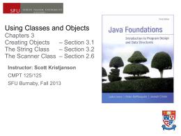 Cmpt 125/126 Lecture Notes