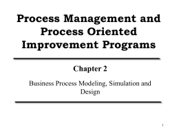 Methodologies for Business Process Design