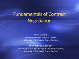 Fundamentals of Contract Negotiation