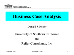 Business Case Analysis - University of Southern