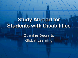 Study Abroad for Students with Disabilities