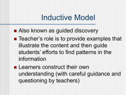 Inductive Model - Pearson Education