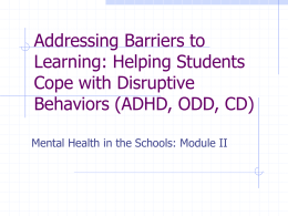 Addressing Barriers to Learning: Helping Students