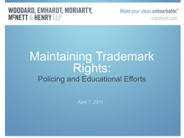 Maintaining Trademark Rights: