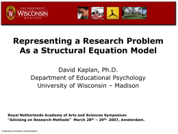Representing a Research Problem As A Structural