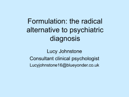 Formulation: A potential way forward together?