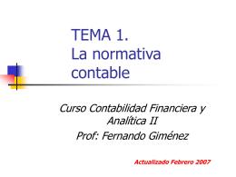 TEMA 3. La normativa contable