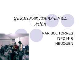 GERMINAR IDEAS EN EL AULA