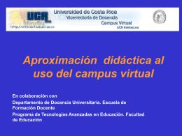 Aproximación didáctico al uso del campus bimodal