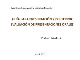 Guideline para presentaciones