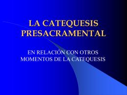 LA CATEQUESIS - Sitio de la Vicaría de Pastoral