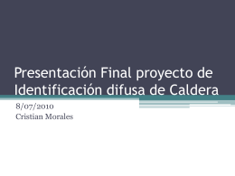 Presentación Final proyecto de Identificación