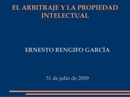 EL ARBITRAJE Y LA PROPIEDAD INTELECTUAL
