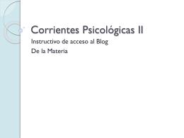 Corrientes Psicológicas II